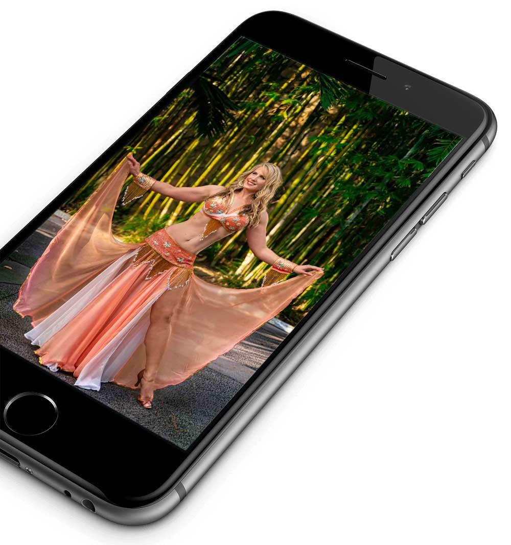 Phone Shot of Belly Dancer